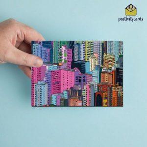 POSTIVITYCARD - HONG KONG BUILDINGS